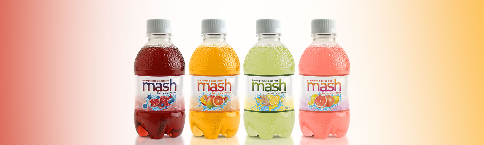 Mash low calorie water drink