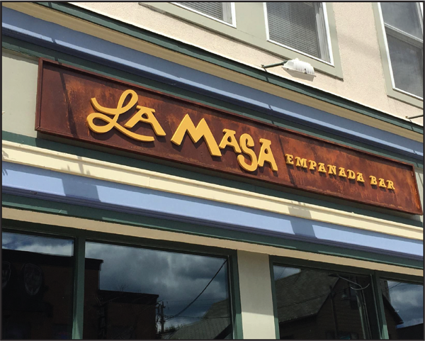 A photo of La Masa empanada bar restaurant.