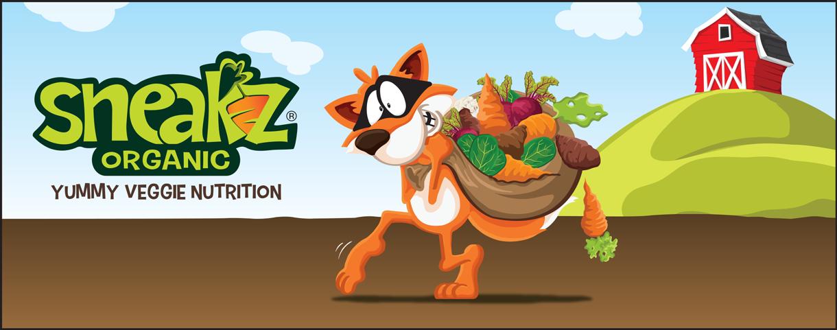 Sneakz Organic nutrition drink artwork.