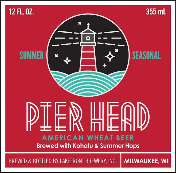 Pier Head American wheat beer label concept.